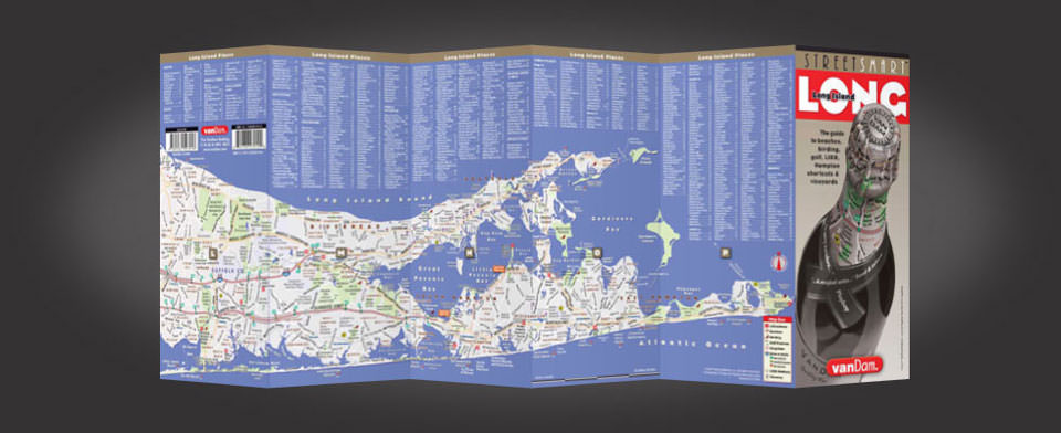 Long Island street map by VanDam, StreetSmart Long Island map