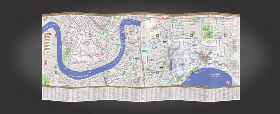New Orleans street map by VanDam, StreetSmart New Orleans map