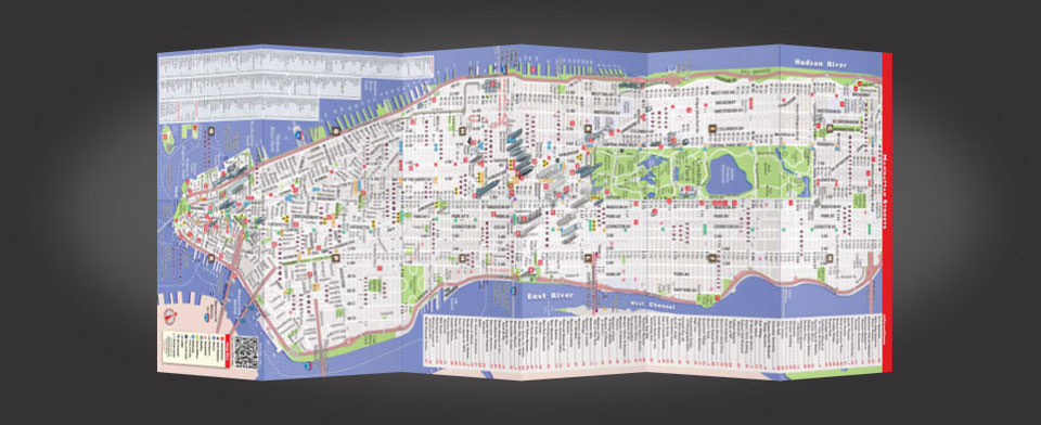 NYC Five Boro street map by VanDam, StreetSmart NYC Five Boro map