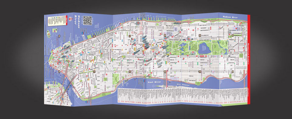 NYC street map by VanDam, StreetSmart NYC map