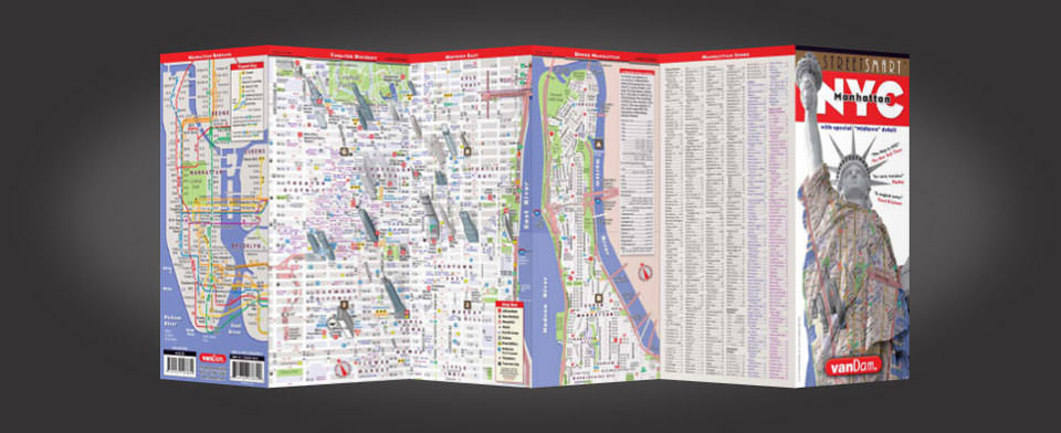 NYC Map by VanDam NYC Midtown StreetSmart Map – Street Map Nyc