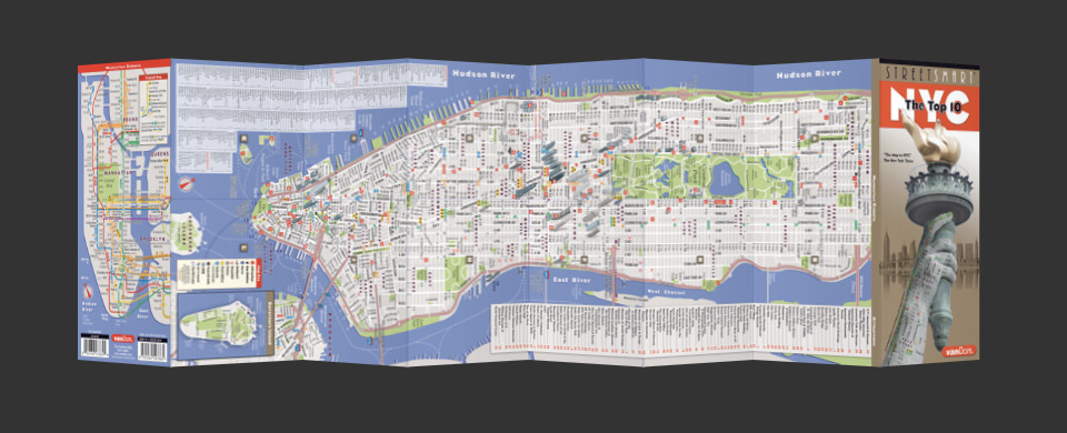 New York City street map by VanDam, StreetSmart New York City map