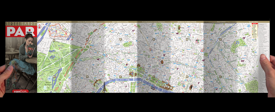 Paris street map by VanDam, StreetSmart Paris map