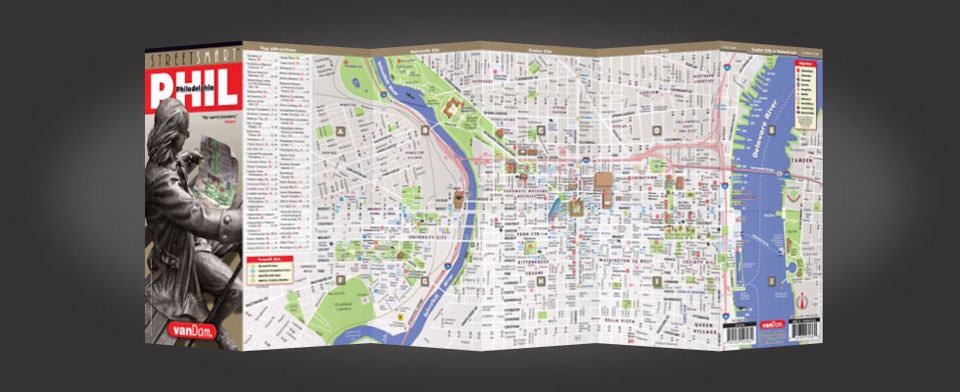 Philadelphia street map by VanDam, StreetSmart Philadelphia map