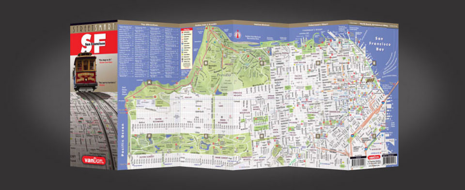 San Francisco Map by VanDam San Francisco StreetSmart Map City