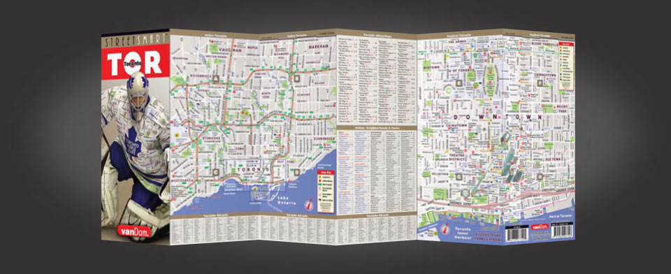 Toronto street map by VanDam, StreetSmart Toronto map