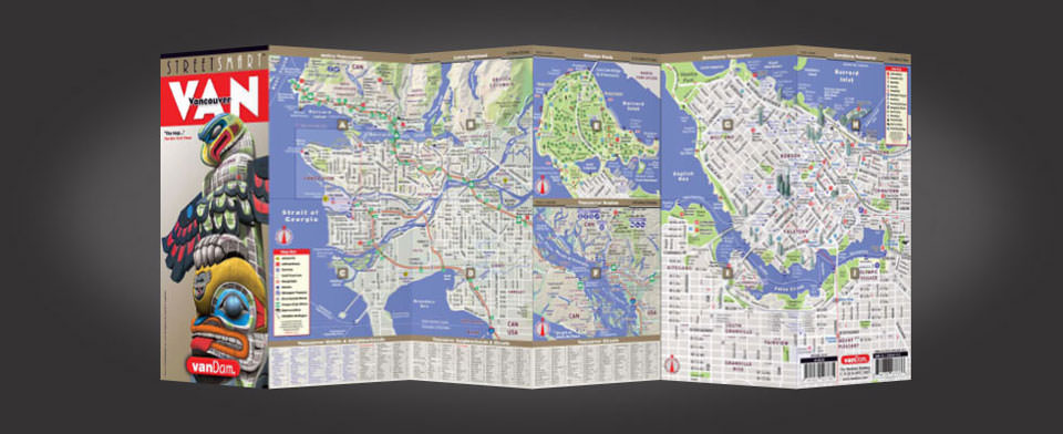 Vancouver street map by VanDam, StreetSmart Vancouver map