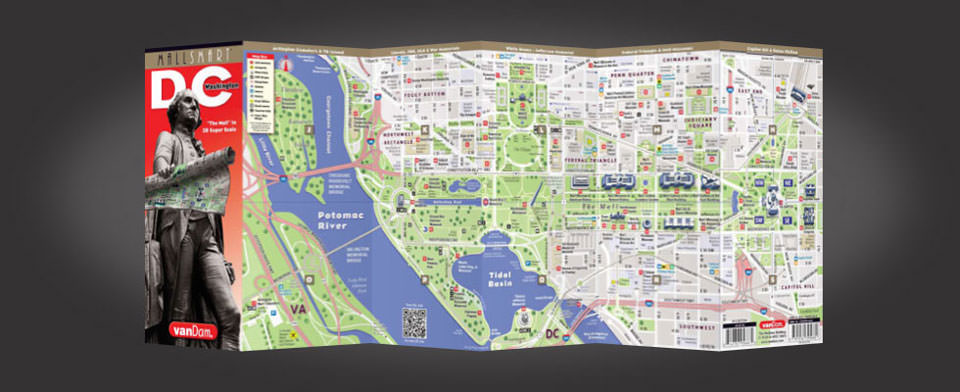 Washington DC street map by VanDam, StreetSmart Washington DC map