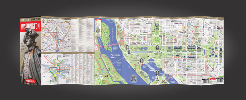 Washington DC street map by VanDam, History Mapped Washington DC map