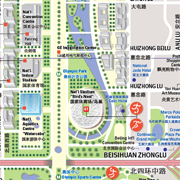 Map of Olympic Village, Beijing by Stephan Van Dam